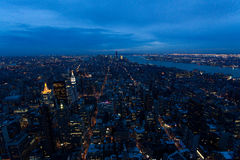 New york city. Landscape of New York at sunset Royalty Free Stock Images