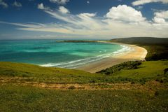 Landscape New Zealand - Bay on the south of Southern Island Stock Images
