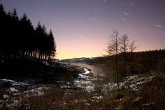 Landscape at night Stock Photos