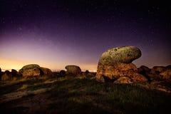 Landscape by night Stock Photo