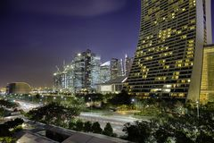 Downtown Singapore royalty free stock photos