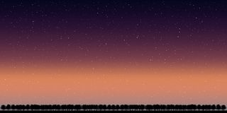 Landscape night sky Vector. Illustration Royalty Free Stock Image