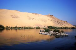 Landscape of the Nile Royalty Free Stock Images