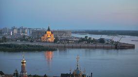 landscape of Nizhniy Novgorod city stock video