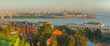 Landscape of Nizhniy Novgorod Royalty Free Stock Photos