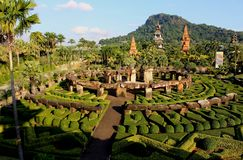 Landscape Nong Nooch Tropical Botanical Garden. stock photo
