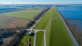Landscape in Nordfriesland, Schleswig-Holstein.  royalty free stock photos