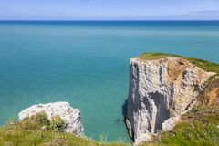 Landscape on the Normandy Coast Stock Images