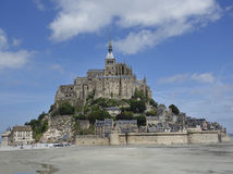 Abbey of Mont-Saint-Michel. France in summer. Landscape in Normandy. Abbey of Mont-Saint-Michel Stock Photography