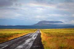 Landscape Noroausturvegur way after heavy rain, Iceland Stock Photography