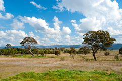 Landscape north of Canberra, Australia stock photo