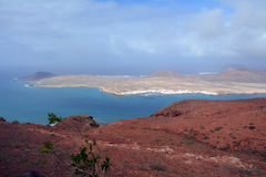 Landscape from north of Lanzarote. La Graciosa Island. Canary Islands. Spain. Royalty Free Stock Photos