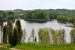 Landscape in north Lithuania Royalty Free Stock Photo