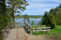 Landscape in north Lithuania Stock Photo