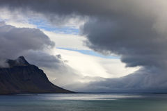 Landscape of the Northeast Fjords of Iceland Stock Images