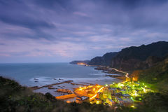 Landscape of northern coast in taiwan Stock Image