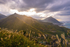 Landscape of northern coast in taiwan Royalty Free Stock Photo