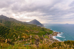 Landscape of northern coast in taiwan Stock Photo