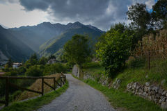Landscape. Northern Italy Stock Image