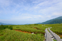 Landscape of Northern Japan Alps Stock Photography
