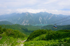 Landscape of Northern Japan Alps Stock Image