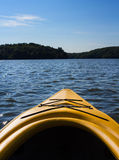 Landscape of a northern lake viewed from a kayak Royalty Free Stock Photography