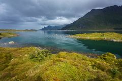 Typical landscape of northern Norway stock image