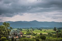 Landscape of northern of Thailand village. royalty free stock photo