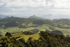 Landscape of Northland, New Zealand. St Paul's Rock in a mist, Northland, New Zealand Stock Image