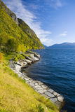Landscape in Norway. Landscape by Haldanger fjord, Norway Stock Photos