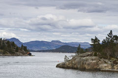Landscape in norway with islands Stock Photography