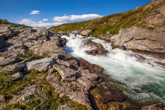 Landscape Norway mountains Dovrefjell river Royalty Free Stock Images
