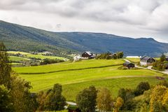 Landscape in Norway. Landscape with rural place in Norway Royalty Free Stock Photo