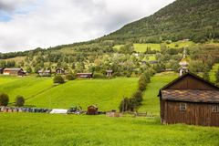 Landscape in Norway. Landscape with rural place in Norway Royalty Free Stock Image