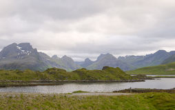 Landscape of Norwegian fjord. Royalty Free Stock Images