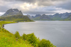 Landscape of Norwegian fjord Stock Image
