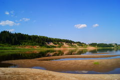Landscape of the nothern Russia. The side of the river Severnaya Dvina stock photos
