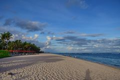 Landscape Nusa Dua Beach Bali nice view royalty free stock image