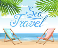 Landscape ocean summer water holiday travel Beach and tropical sea with bright sun Stock Images