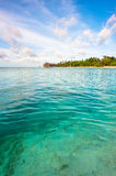 Landscape of the ocean and tropical island Stock Photography