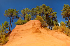 Landscape with ochre in France Royalty Free Stock Image
