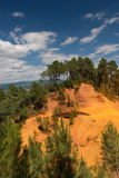 Landscape with ochre in France Royalty Free Stock Photo