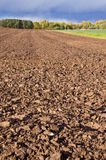 Landscape with october tillage Royalty Free Stock Photo