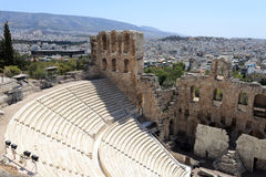 Landscape of Odeon of Herodes Atticus Royalty Free Stock Images