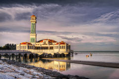 Landscape Of Floating Mosque Stock Image