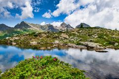 Free Landscape Of The Brembana Valley With The Il Pizzo Del Diavolo In The Background Stock Photography - 153001942