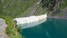 Free Landscape Of The Dam Of The Lake Barbellino, An Alpine Artificial Lake. Italian Alps. Italy Stock Photography - 121085722