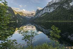 Landscape Of The Lake Gosausee In Austria Royalty Free Stock Image
