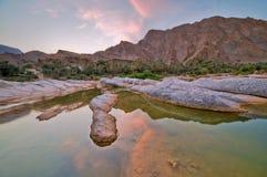 Landscape Of Wadi Tiwi , Oman Stock Images