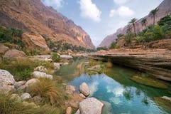 Landscape Of Wadi Tiwi , Oman Stock Image